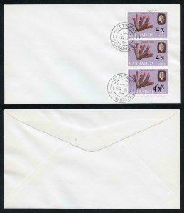 Barbados SG398d Variety bottom stamp Surcharge Triple