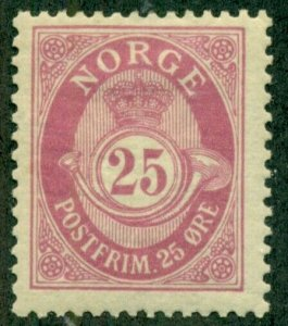 NORWAY #87, Mint Hinged, Scott $45.00