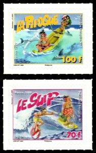 French Polynesia Scott 1005-1006 Mint never hinged.
