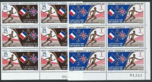 NEW HEBRIDES 1969 Sth Pacific Games set blocks of 6 MNH....................50939