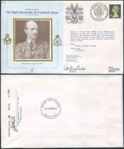 CDM2a RAF COMMANDERS SERIES Frederick Sykes Signed by Gp Capt G J Oxlee (E)