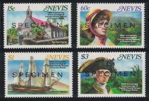 Nevis Marriage of Horatio Nelson and Frances Nisbet 4v SPECIMEN 1987 MNH