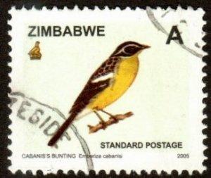 Zimbabwe 981 - Used - (A) Cabanis's Bunting (2005) (cv $8.00)