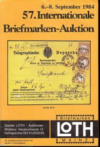 57. Loth-Briefmarken-Auktion: Internationale Briefmarkena...