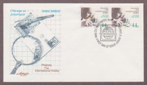 UN # 474 , Stamp Collecting - AMERIPEX 86 Pair on Artmaster FDC - I Combine S/H
