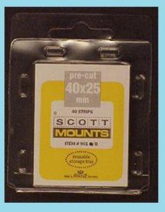 Scott Mounts Black 40/25mm, Pgk. 40 ea. (00901B)*