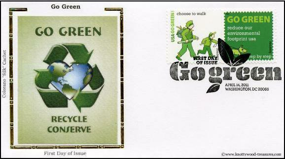 Colorano 4524 Go Green (16 on 15 covers) 2011 New Issue