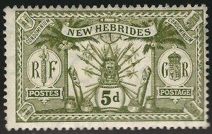 British New Hebrides Sc#21 Unused F-VF...Colonies are Hot!