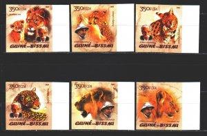 Guinea-Bissau. 2005. 2818B-23B. Predatory cats, lion. MNH.