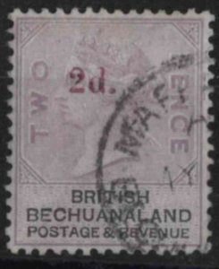 t005) Bechuanaland. 1888. Used.  SG 23a Surcharged 2d on 2d. c£60+