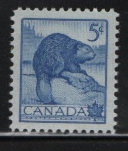 CANADA, 336, MNH, 1954, Beaver