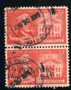 USA  1086    pair  u  VF 1957 PD