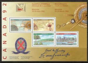 Canada #1407ai XF NH *signature souvenir sheet* RARE