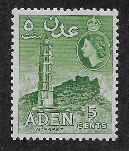 ADEN SC# 48a  FVF/MLH 1955