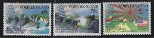 Norfolk Island 1992 WWII Battle of Guadalcanal set Sc# 526-28 NH