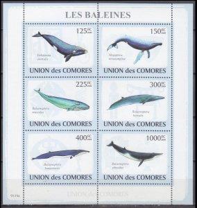 2009 Comoro Islands 2121-26KL Whales 10,00 €