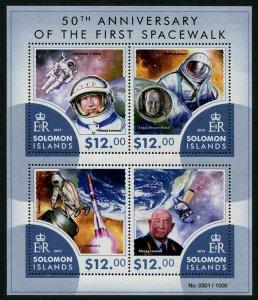 HERRICKSTAMP NEW ISSUES SOLOMON ISLANDS Sc.# 1900 First Spacewalk Sheetlet