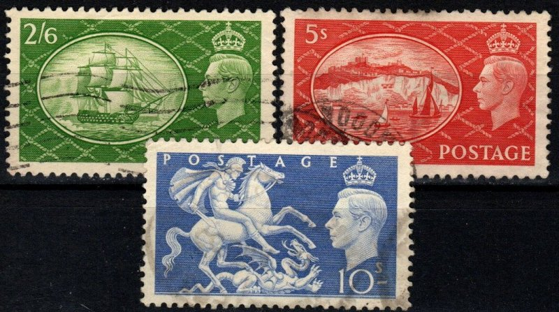 Great Britain #286-8 F-VF used CV $10.00 (X805)