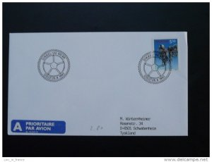 bicycle cycling world cup postmark on cover Norway 28/08/1993
