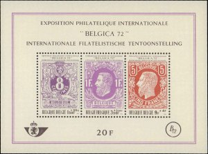 1970 Belgium #B863, Complete Set, Never Hinged