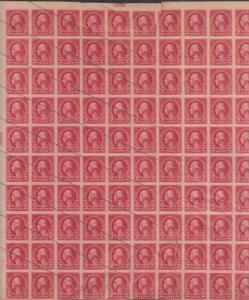 #554a,554 VAR UNIQUE SHEET/100 56 PART PERF 44 IMPERF MAJOR ERROR WL5370