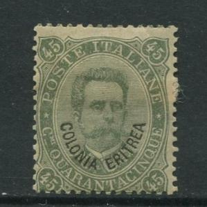 STAMP STATION PERTH Eritrea #8 King Humbert I Italy Overprint1892 MH CV$32.00