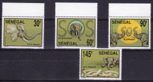 Senegal 1994 Sc#1079/1082 SAVE THE ELEPHANT Set (4) perforated MNH