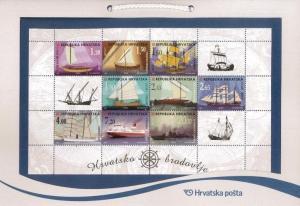 CROATIA/2018, (SOUVENIR PACK) CROATIAN SHIPS, MNH