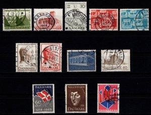 Denmark 1968-69 Commemoratives, Complete Sets [Used]