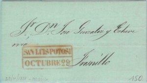 89616 - MEXICO - POSTAL HISTORY - Prephilatelic COVER from ST LOUIS POTOSI 1838