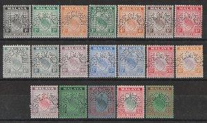 MALAYA - STATES NEGRI SEMBILAN : 1935 Arms set 1c-$5, SPECIMEN. RARE!