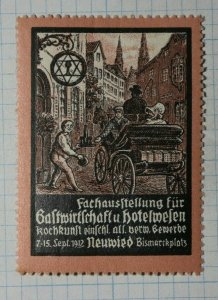 Trade Exhibition For Galwirtchaft Hotel Horse Carriage Expo Poster Stamp Ads