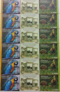A) 2014, PARAGUAY, PARROT AND OSTRICH, FAUNA, ZOOLOGICAL AND BOTANICAL GARDEN, 6