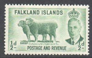 Falkland Is Scott 107 - SG172, 1952 George VI 1/2d MH*