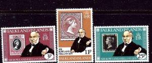 Falkland Is 291-93 MNH 1979 Sir Rowland Hill    (ap6118)