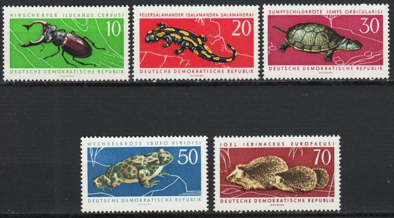 East Germany - 1963 Fauna Sc# 663/667 - MNH (8961)