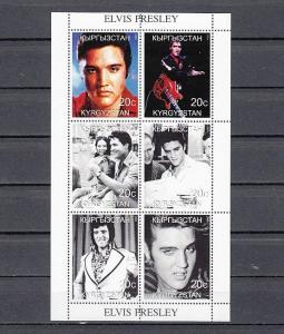 Kyrgyzstan, 1999 Russian Local issue. Singer Elvis Presley sheet.
