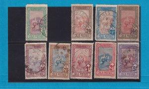 TUNISIA 1906  Q1, Q3-Q10, Parcel post stamps, Used