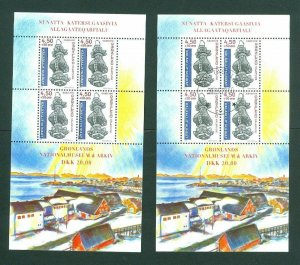 Greenland. 2  Souv. Sheet Mnh + Cancel 2000.Greenland National Museum. M. Morck