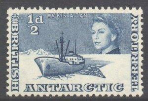 British Antarctic Territory BAT Scott 1 - SG1, 1963 Elizabeth II 1/2d MNH**