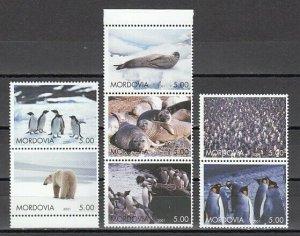 Mordovia, 2001 issue. Polar Animals issue of 7 values. *