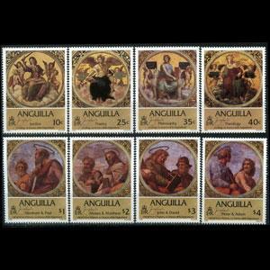 ANGUILLA 1984 - Scott# 569-76 Easter-Raphael Set of 8 NH