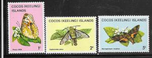 Cocos Islands MNH 87-9 Butterflies