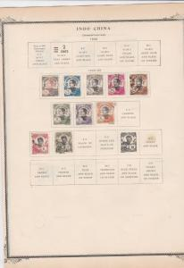 indo china 1922 - 27   stamps on album page ref r11377