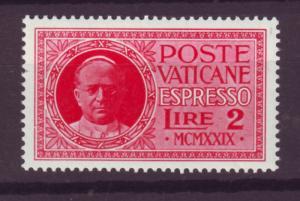 J16207 JLstamps 1929 vatican city mh #e1 pius X1