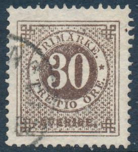 Sweden Scott 35/Facit 35g, 30ö warm brown Ringtyp p.13, VF Used
