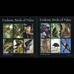 PALAU 2007 - Scott# 888-9 Sheet-Birds NH