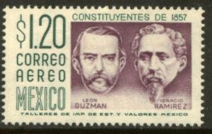 MEXICO C237 $1.20P 1950 Def 6th Issue Fosforescent unglazed. MINT, NH. VF.
