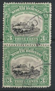 North Borneo  SG 163 SC# 139 Used pair perf 13½ / 14 x 14 see scan & details