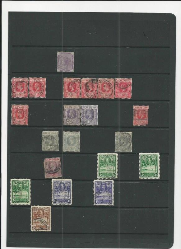 TRADE PRICE STAMPS SIERRA LEONE ON  DEALERS STOCK PAGES
